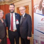 Left to Right: MP Deb Schulte, Dr. Alex Mihailidis, Scientific Director and CEO of AGE-WELL, Senator Eggleton