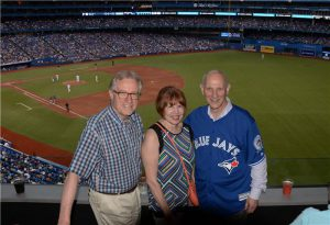 David Mirvish throws out the first pitch (Red Sox @ Blue Jays)