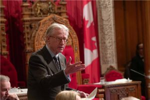 Debating Bill C-45 in the Senate Chamber