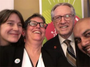With Meredith Hayes, Diana Bronson,and Suman Roy at the Great Big Crunch on the Hill.