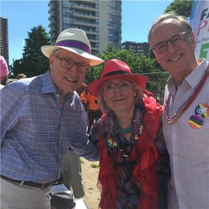 Left to Right: Senator Eggleton, The Honourable Carolyn Bennett, Rob Oliphant, M.P.